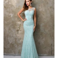 Preorder - Nina Canacci 9082 Turquoise Blue Mermaid Lace Long Dress 2016 Prom Dresses