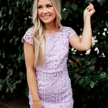 Passion For Fashion Lace Dress (Lilac)