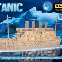 Puzzled, Inc. 3D Natural Wood Puzzle - Titanic