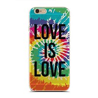 for iPhone 7/7S - Super Slim Case - Love Is Love - Gay Pride - Lgbt Pride - Lgbt Tie Dye - Lover And Cute Gay (C) Andre Gift Shop
