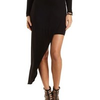 Asymmetrical High-Low Skirt by Charlotte Russe