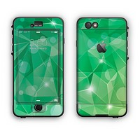The Vector Shiny Green Crystal Pattern Apple iPhone 6 Plus LifeProof Nuud Case Skin Set