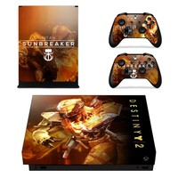 S0068 Game accessories Skin Sticker for Microsoft Xbox One Slim Console and 2 Controllers skins Stickers for XBOXONE Slim