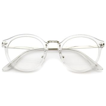 Ornate Engraved Vintage Dapper Clear Lens Glasses A844