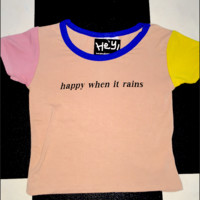 SWEET LORD O'MIGHTY! HAPPY WHEN IT RAINS RINGER TEE