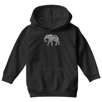 elephant filled pattern cool Youth Hoodie