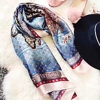 LV Women Fashion New Monogram Letter Print Leisure Scarf
