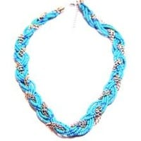 Braided Mini Bead Chain Necklace