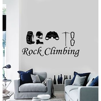Vinyl Wall Decal Rock Climbing Alpinism Climbers Extreme Stickers Mural (g3553)