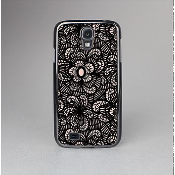The Black Floral Lace Skin-Sert Case for the Samsung Galaxy S4