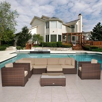 Southampton Sectional 9-pc Set Deluxe