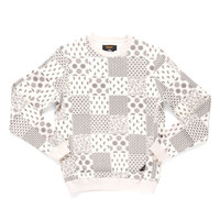 10 Deep: Bandana Check Crewneck Sweatshirt - Natural
