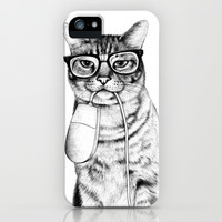 Mac Cat iPhone & iPod Case by Florever