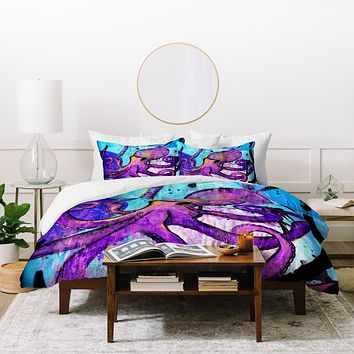 Sophia Buddenhagen Purple Octopus Duvet Cover