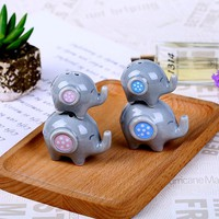 Fast Delivery Baby Shower Favors And Christening Gifts Little Peanut Blue / Pink Elephant Ceramic Salt & Pepper Shakers