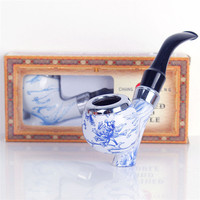 Chinese Style Pipe Chimney Smoking Pipes Mouthpiece Herb Tobacco Pipe Cigar Gifts Narguile Weed Grinder Smoke