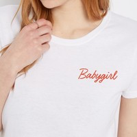 Babygirl Cropped Tee   Graphic Tees   rue21