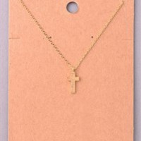 Cross Necklace (Gold)