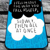 john green falling in love quotes for iPhone 4/4s/5/5S/5C/6, Samsung S3/S4/S5 Unique Case *95*