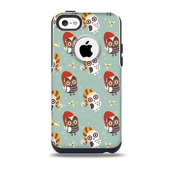 Cartoon Snowy Colored Owls Skin for the iPhone 5c OtterBox Commuter Case