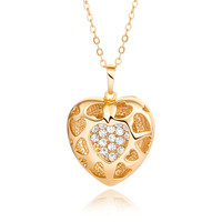 Diamond in Heart Pendant Necklace