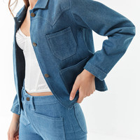 Lykke Wullf Denim Ranch Jacket | Urban Outfitters