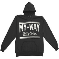 Fetty Wap Men's  My Way Scripty Hooded Sweatshirt Black Rockabilia