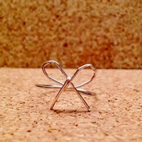 Silver Wire Bow Ring from My Friends Closet