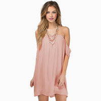 Solid Strapless Off  Shoulder Loose Chiffon  Mini Dress