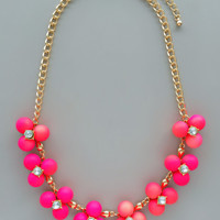Shades of Neon Pink Necklace