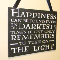 Vinal Wall Art Harry Potter Quote Decal on Canvas Happiness Can Be Found Even in the Darkest of Times Home Decor Vinyl Sign
