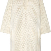 Chloé - Oversized cable-knit wool sweater dress