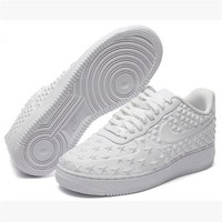 NIKE Women Men Running Sport Casual Shoes Sneakers Air force Low tops Stars print White-1