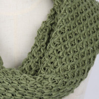 Light Green Chunky Hand Knitted Snood