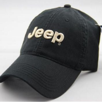 Army Green Color Jeep Embroidered Baseball Cap Hat