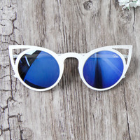 Quay Australia - Invader Sunglasses - Blue/White