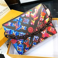 LV New Fashion Multicolor Monogram Print Leather Shoulder Bag Crossbody Bag