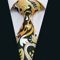 New Colorful Print Silk Men`s Tie High Quality Design  Neck wear For Wedding Party