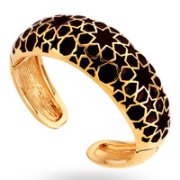 Gold & Black Flip Bangle