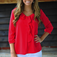 Ready In Red Top: Bright Red | Hope's