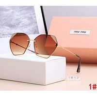 Miu Miu Popular Women Fashion Summer Shades Eyeglasses Glasses Sunglasses 1#