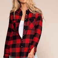 Ace Flannel Top - Red