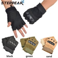 Tactical Gloves For Men Fingerless Army Gloves Climbing Bicycle Antiskid Fitness Sports Workout Gym Training Gloves
