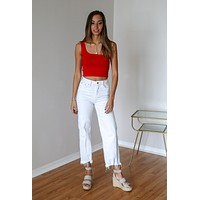 Lia Red Crop Top