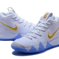Nike Kyrie 4 Ivring White Gold Men Sneakers