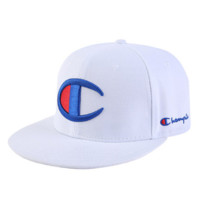 Champion New fashion embroidery letter logo cap hat White