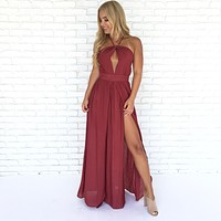 Back At You Maxi Dress In Wine