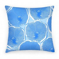 Large Blue Poppy Flower Pattern