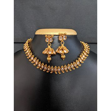 Classic mango design Choker Necklace and Earrings set