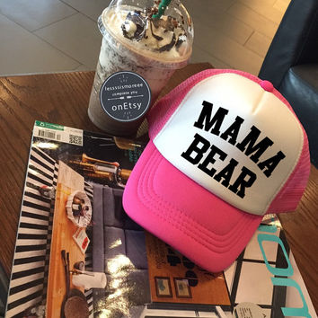 Mama Bear Hats mama Caps Mom Hats Mother Hats Gift For Mom Mother Day Trucker Hat